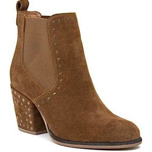Crevo copper Nail studded block heel ankle boot
